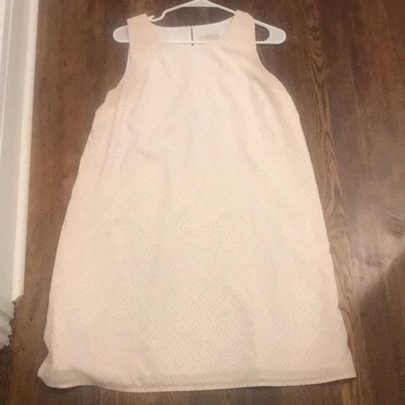 LOFT Dresses & Skirts - Baby pink mini dress with diamond detail